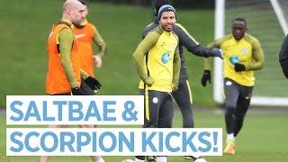 SCORPION KICKS AND AGUERO'S SALTBAE! | Man City Training