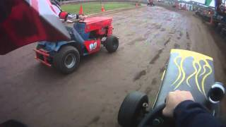 racing lawnmower crash pov
