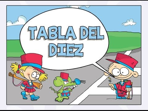 La Tabla del diez (10) Video - Las Tablas de Multiplicar del 1 al 10