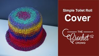 getlinkyoutube.com-How To Crochet a Toilet Paper Roll Cover