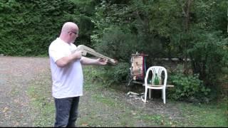 getlinkyoutube.com-Pump Action Slingshot Crossbow!