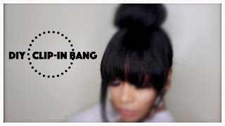 DIY Clip-In Bang