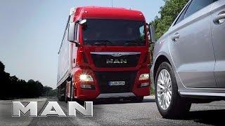 MAN  EBA - emergency braking system.