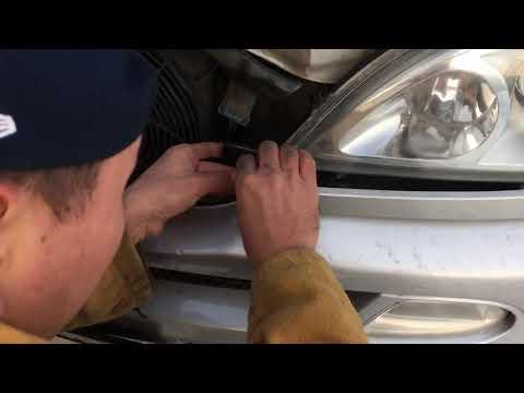 Mercedes Benz w163 ML 350 how to change xenon light Mitsuji замена лампочки ксенон Mitsuji