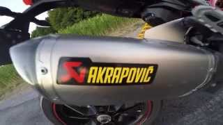 getlinkyoutube.com-DUCATI HYPERMOTARD 821 Akrapovic No DB Killer Sound Comparison