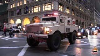 getlinkyoutube.com-Heavy armored SWAT truck FBI + 2 unmarked cars - 1000th video !!!