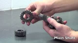 getlinkyoutube.com-Honda CRF Dirt Bike Transmission Gear and Shaft Tear Down - DO IT RIGHT!