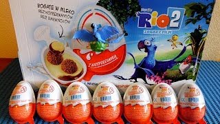 getlinkyoutube.com-RIO 2 Movie 12 Kinder Surprise Eggs + Toys to Collect in Europe Unboxing