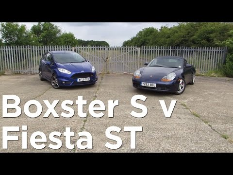 Porsche Boxster S and Ford Fiesta ST