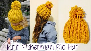 getlinkyoutube.com-HOW TO KNIT FAST AND EASY CHUNKY RIBBED HAT
