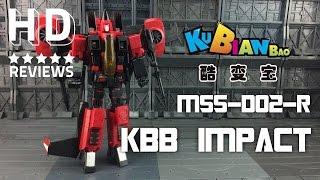getlinkyoutube.com-Kubianbao KBB Master Scale Series MSS-D02 R Impact KO Transformers Masterpiece Thrust