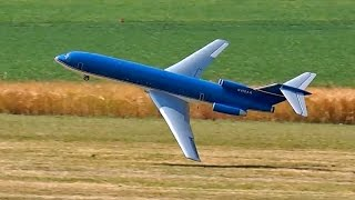 getlinkyoutube.com-BOEING 727 CRITICAL TAKE-OFF AND FLIGHT GIANT RC AIRLINER MODEL TURBINE JET / RC Airshow Oppingen