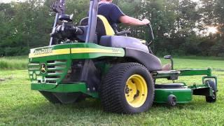 getlinkyoutube.com-John Deere 777 72 Zero Turn Commercial Ztrak Lawn Mower