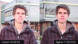 getlinkyoutube.com-Canon 18-55 f/3.5-5.6 IS STM Kit vs Sigma 17-50 f/2.8 Comparison