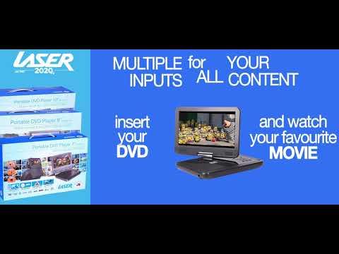 "Laser 9"" In-Car Dual DVD Player"