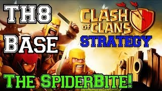 getlinkyoutube.com-Clash of Clans: The MOST EPIC TH8 Base - The SpiderBite!