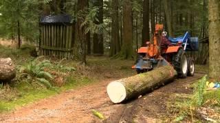 getlinkyoutube.com-Small Scale Logging - Farmi Winch