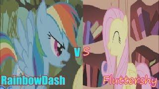 getlinkyoutube.com-Epic Rap Battles Of History (Pony Parody) 9- Rainbow Dash VS Fluttershy