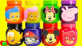 getlinkyoutube.com-Bubble Guppies, Paw Patrol, Mickey, Peppa Surprises in Slime