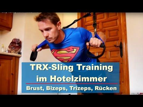 Sling Training TRX im Hotelzimmer