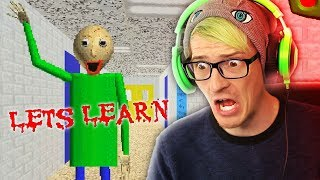 THIS IS A HORROR GAME?! | Baldi's Basics In Education and Learning