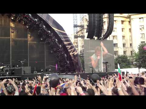 BON JOVI Bucuresti 2011 - INTRO Raise Your Hands LIVE HD 10.07