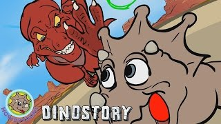 getlinkyoutube.com-T-Rex chases Triceratops- Dinosaur Songs from Dinostory by Howdytoons