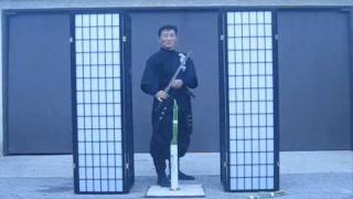 getlinkyoutube.com-Part 1-Chosun Ninjato ( Homestudy Indoor sword techniques) really? video #276