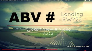 getlinkyoutube.com-Landing @ ABUJA - Nnamdi Azikiwe Intl airport (ABV/DNAA) Nigeria # Cockpit view