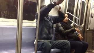 LMFAO: Guy Turns Up On NYC Train While Playing Grand Master Flash