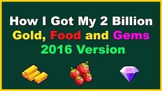 getlinkyoutube.com-How I Got My (2 Billion Gold), Food and Gems 2016 Version on Monster Legends