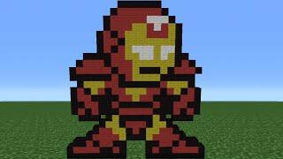 getlinkyoutube.com-Minecraft Tutorial: How To Make Iron Man (8-Bit)