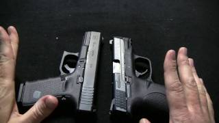 getlinkyoutube.com-Smith & Wesson M&P 9c Vs Glock 19 gen 4
