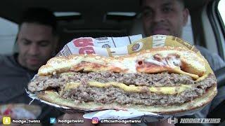 Eating Burger King Bacon King @hodgetwins