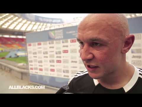 DJ Forbes after the All Blacks Sevens first match at the IRB World Sevens Champs