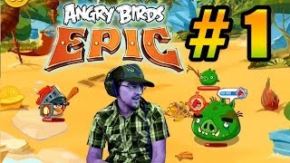 Lets Play Angry Birds EPIC PART 1: Saving CHUCK! (iOS Gameplay + SHOUT OUTS!)