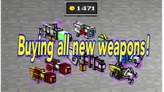 getlinkyoutube.com-All New Weapons Pixel Gun 3D 8.0.0 buying and reviewing
