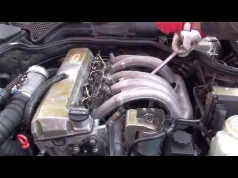 Замена свечи накаливания Mercedes W210 replacement of glow plug