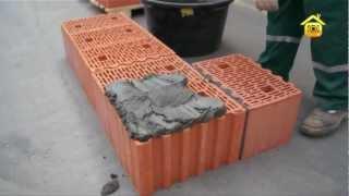 getlinkyoutube.com-Кладка керамических поризованных блоков Porotherm