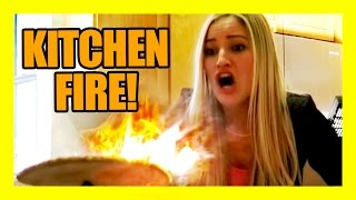 getlinkyoutube.com-KITCHEN FIRE!!!! | iJustine