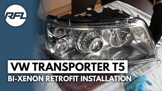 getlinkyoutube.com-Volkswagen Transporter T5 Bi-xenon projector retrofit headlight tutorial