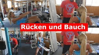 getlinkyoutube.com-Rücken- und Bauchtraining mit Sophia Thiel!