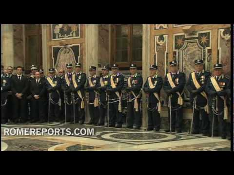 Pope meets with Vatican police force  thanking it for its work