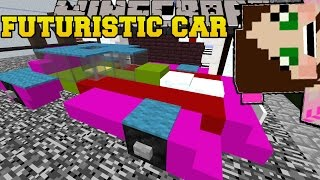 getlinkyoutube.com-Minecraft: FUTURE CAR IN THE CITY! - FIVE NIGHTS AT FREDDY'S - Custom Map