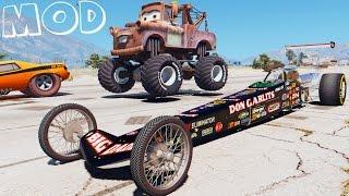 Grand Theft Auto V Mods - Drag Race w Snot Rod - Cars2 (GTA 5 Drag Race Meeting) Part 2