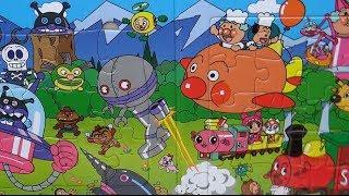 getlinkyoutube.com-Anpanman Japanese anime, Toy Long Magnet Jigsaw Puzzle 11 アンパンマンおもちゃマグネット3倍ジグソーパズル11