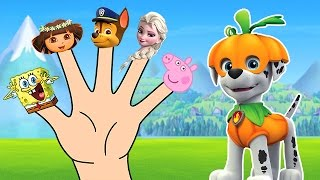 getlinkyoutube.com-Paw Patrol Finger Family Song - Dora the Explorer & Elsa - Daddy Finger Nursery Rhymes