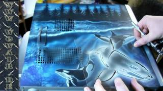 getlinkyoutube.com-No.067  Airbrush by Wow PC Tower Orca HD 1080.mp4