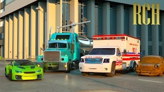 getlinkyoutube.com-Florence the Ambulance and Ross the Race Car - Real City Heroes (RCH) | Videos for Children