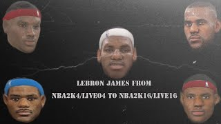 getlinkyoutube.com-Lebron James From NBA 2K4/NBA Live 04 to NBA 2K16/NBA Live 16